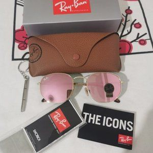 Authentic Ray-Ban Sunglasses Hexagonal Pink RB3548